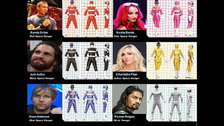 WWE Power Rangers: In Space
