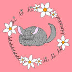 Society6 - Daisy the Chinchilla Laughing by szynszyla-stokrotka