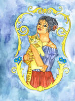 Human Daisy and Cat Bronia by szynszyla-stokrotka