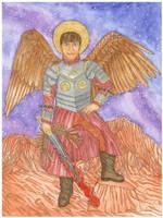 Saint Michael the Archangel by szynszyla-stokrotka