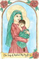Our Lady of Perpetual Help Color by szynszyla-stokrotka