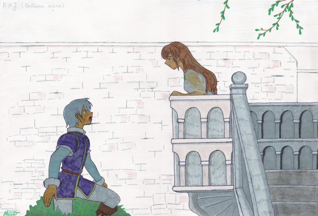 RXJ balcony scene by TomeFantasy on DeviantArt