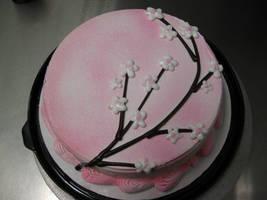 Sakura Flower ice Cream Cake by Yuffie1972