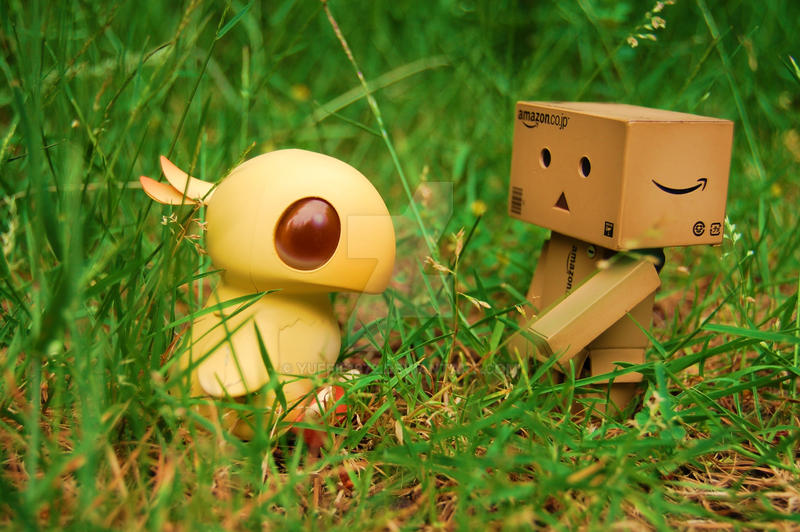Danbo and his Hina Chocobo ... by Yuffie1972
