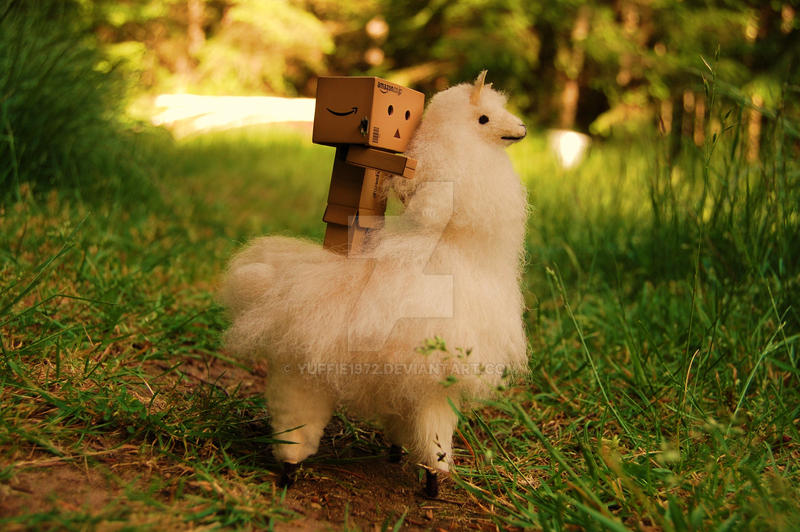 Danbo and his mighty pet ..... by Yuffie1972