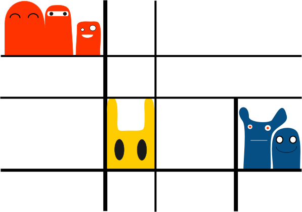 Mondrian's monsters by Lazlo-Moholy