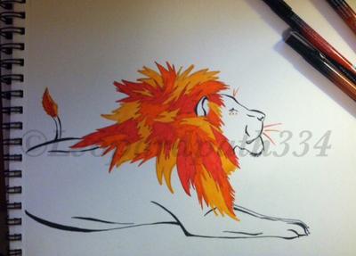 Autumn Lion by leopardpath334