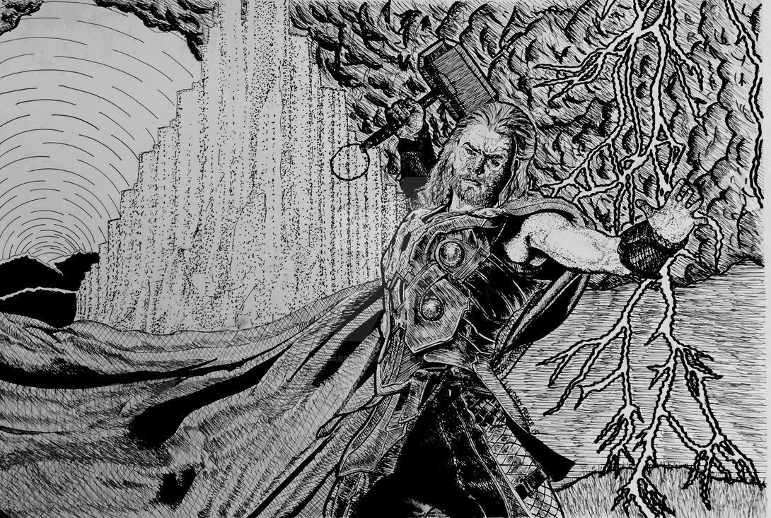 Thor (Chris Hemsworth) by leopardpath334