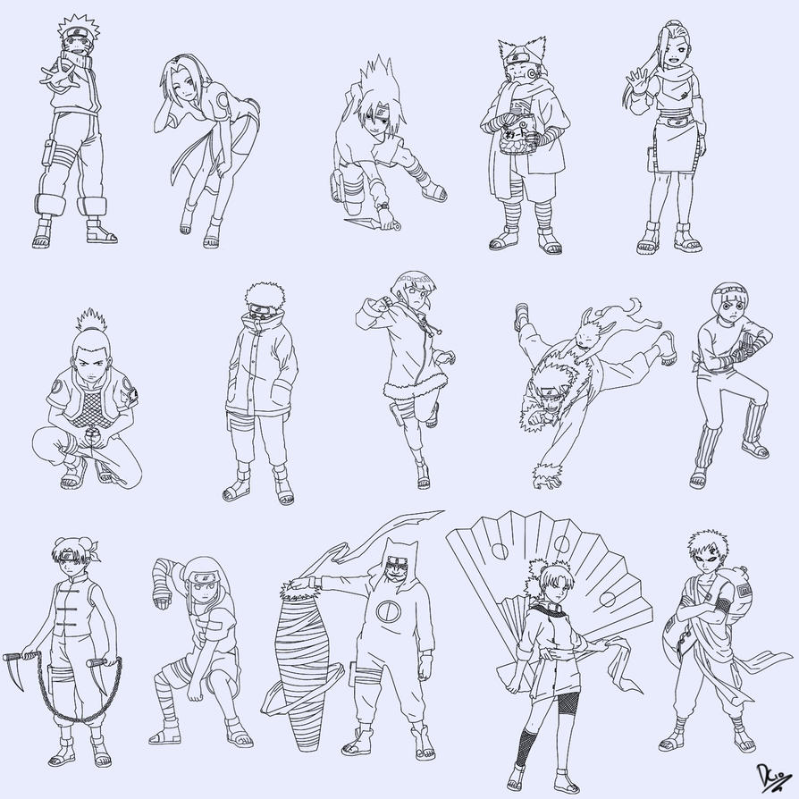 Naruto Fanart Rookie 9 Pics: The Naruto Rookies By Cleanminded On DeviantArt