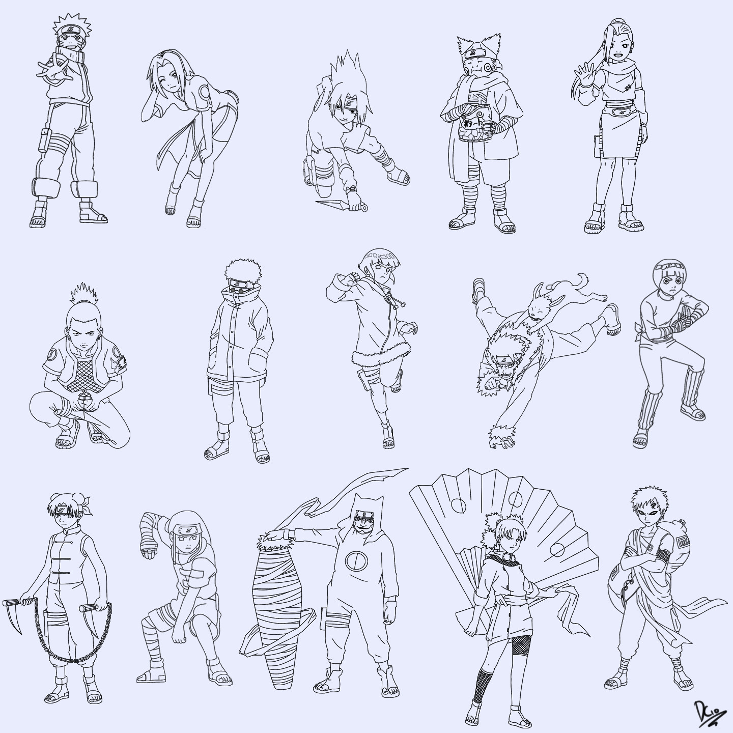 The Naruto Rookies By Cleanminded On DeviantArt