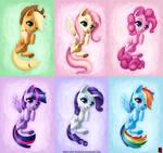 Mane six cutie pack - MLP Fanart