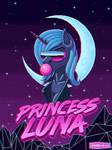 Retrowave Luna - Glitch Version