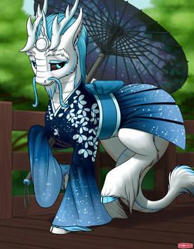 Kirin With Umbrella SFW