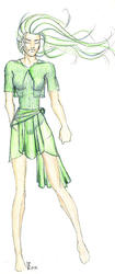 Woman with a green Dress V.2 by talia