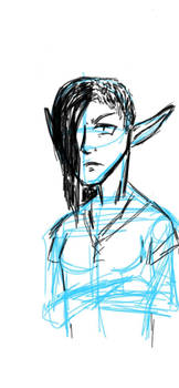 Grumpy Elf Sketch