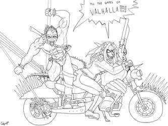 Madmax Deadly Duo Lineart by Caneleb