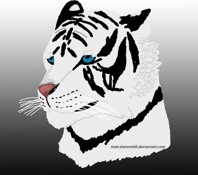 White Tiger by marcelarenoldi
