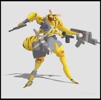 Wingless Wasp of the GunBug Gang