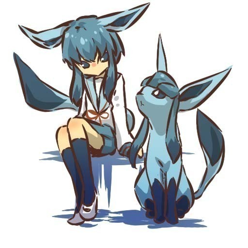 Glaceon Human Form by SkyFireSinger on DeviantArt