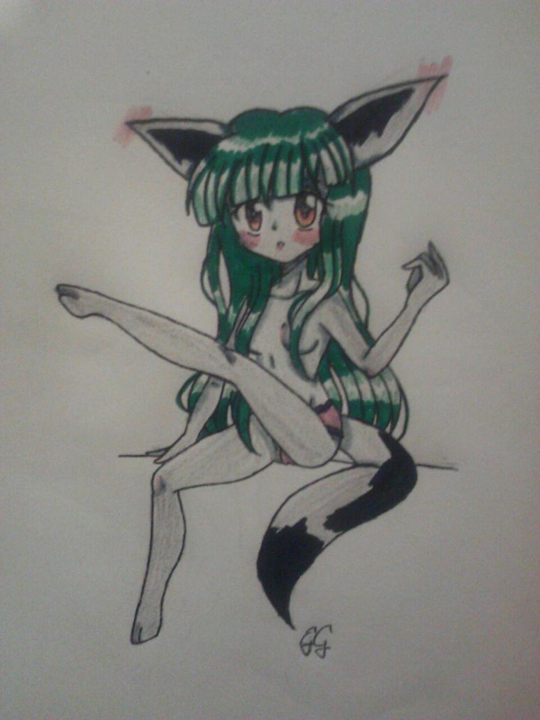topless by KittyMitsu