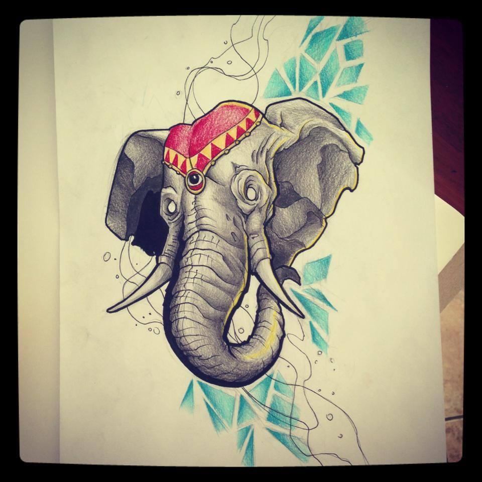 elephant tattoo design by kirtatas on deviantart. Black Bedroom Furniture Sets. Home Design Ideas