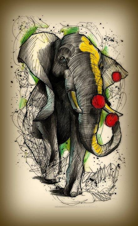 Juggling elephant by kirtatas