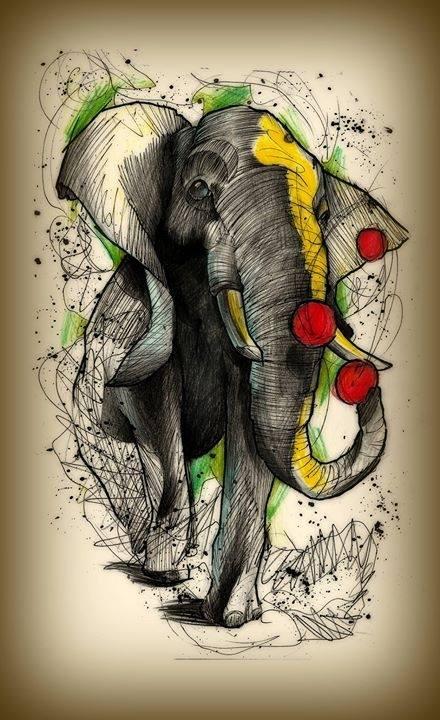 Juggling elephant by kirtatas