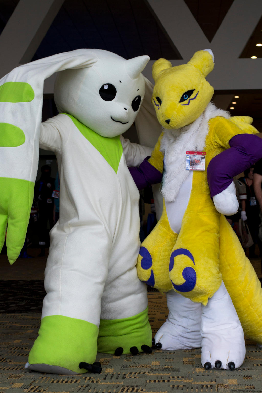 Terriermon and Renamon by Firewolf77