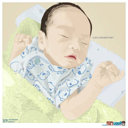 My son - vector artwork