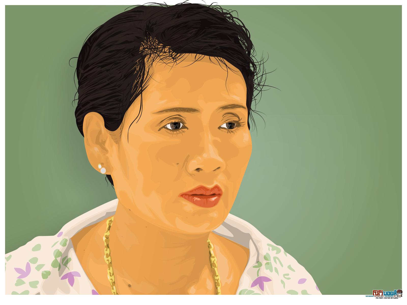 My mom - Vector artwork