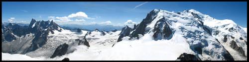 Panoramic Glaciers by BloodyAenora