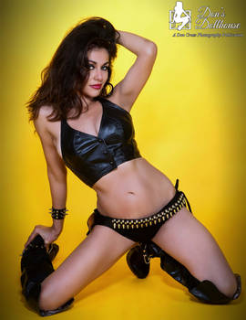 Jessica in Black Leather