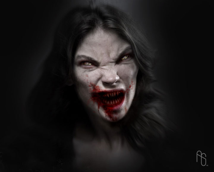 Female Vampire 3 by aaronsimscompany