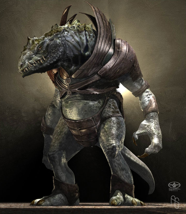 Armored Lizardman by aaronsimscompany on DeviantArt