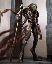 Alien Warrior by aaronsimscompany