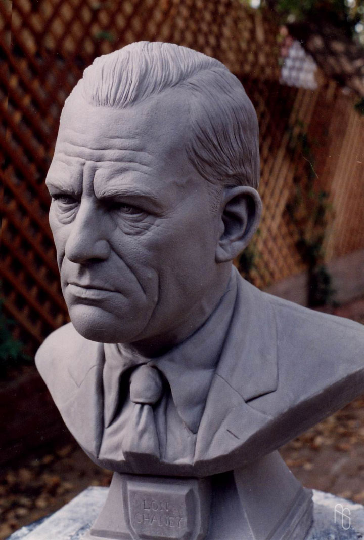 Lon Chaney, Sculpture by aaronsimscompany