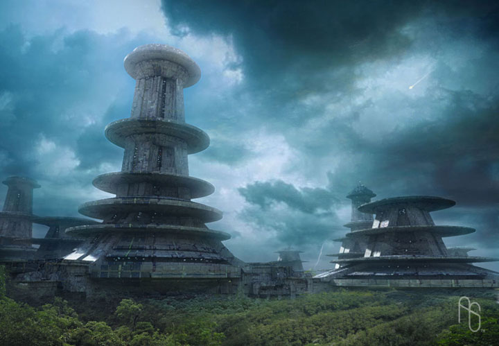 Sci-Fi Factories by aaronsimscompany