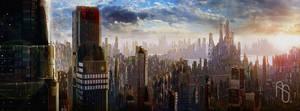 Futuristic City 2 by aaronsimscompany