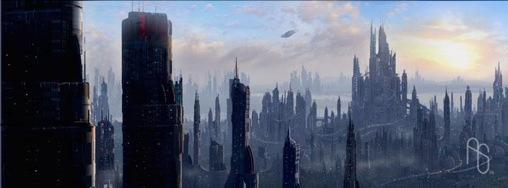 Futuristic City 3 by aaronsimscompany