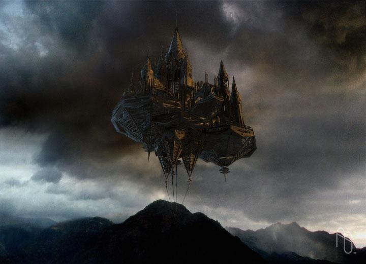 Image result for floating dark castle