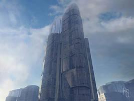 Futuristic Skyscraper 2 by aaronsimscompany