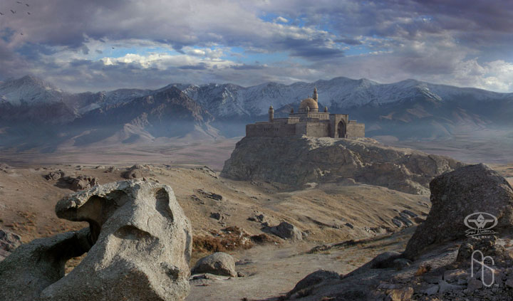 Matte painting, Keeper by aaronsimscompany