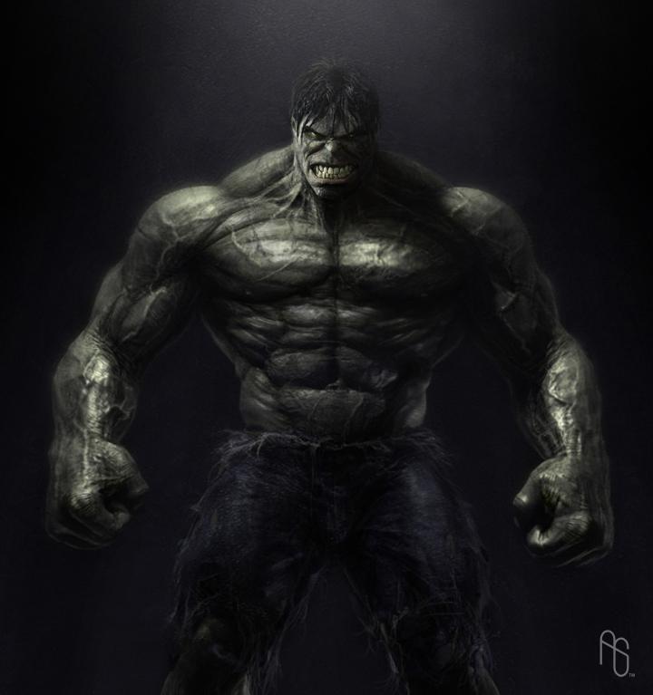 Hulk Body, The Incredible Hulk by aaronsimscompany