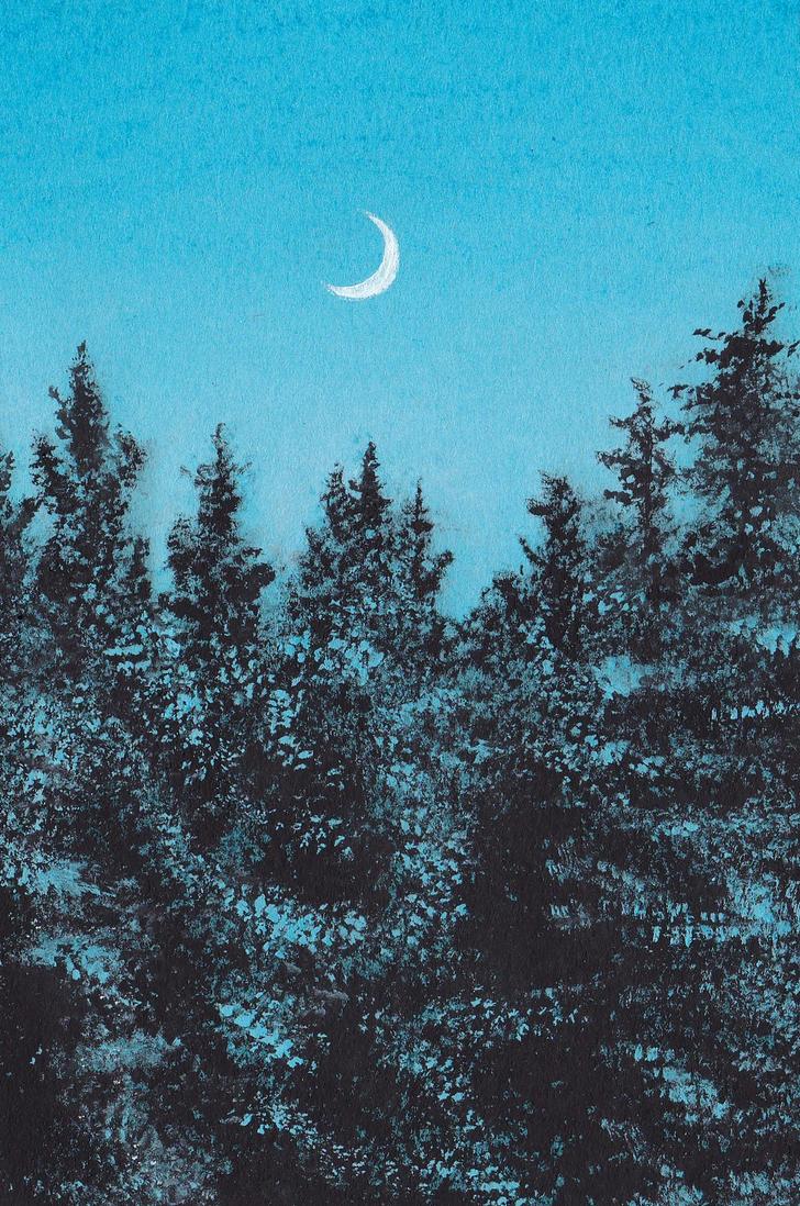 Winter moon by nanazsuzsi