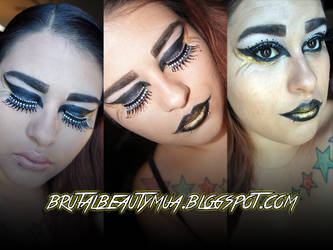 catching fire inspired makeup by Brittany13Brutal