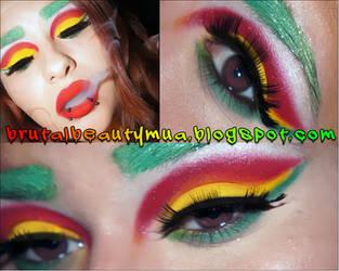 Rasta Vape Inspired Makeup by Brittany13Brutal