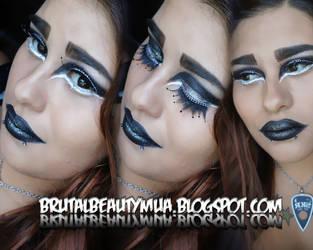 Razakel red cherry inspuired makeup by Brittany13Brutal