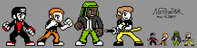 Pocket Rumble Sprite Edits: Super Best Friends by NanTheDark