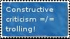 Criticism Stamp by Biog33k