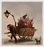 Chimp color sketch